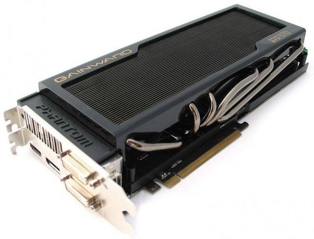 Монструозная видеокарта Gainward GeForce GTX 570 Phantom (4 фото)