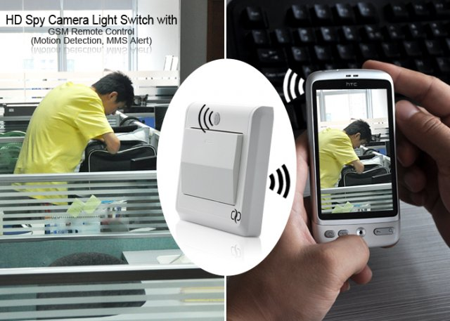 HD Spy Camera Light Switch - скрытая камера в выключателе (8 фото)