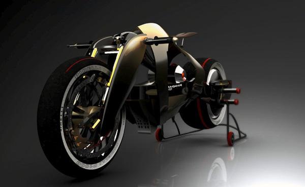 Электроцикл по мотивам Peugeot 515 (5 фото)