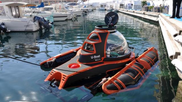 Индивидуальная подводная лодка (видео)