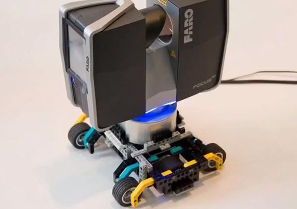 Самоходный 3D сканер из Lego