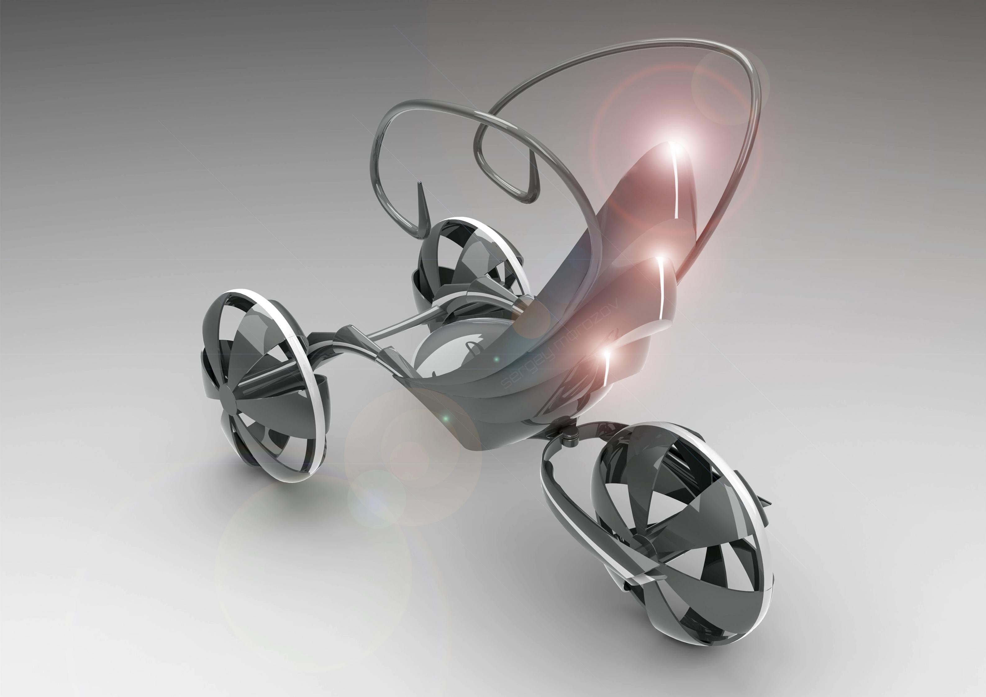 Caretta - концептуальный электрический скутер для бездорожья (5 фото)