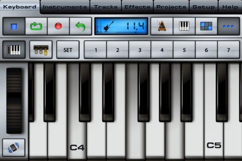 Музыкальный синтезатор на андроид