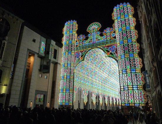 Фестиваль света в Бельгии. Очень красиво!