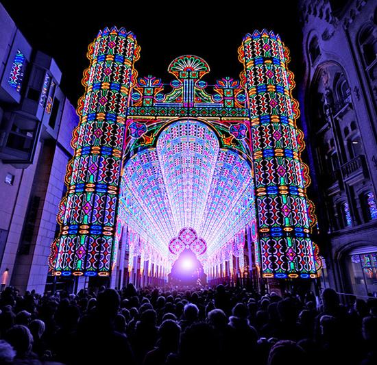 Фестиваль света в Бельгии (4 фото + видео)