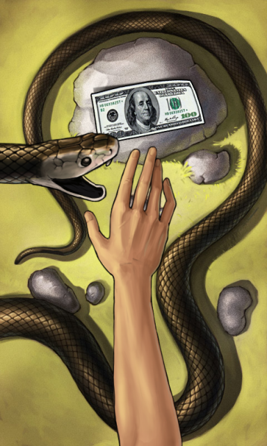 Картинки змея с деньгами