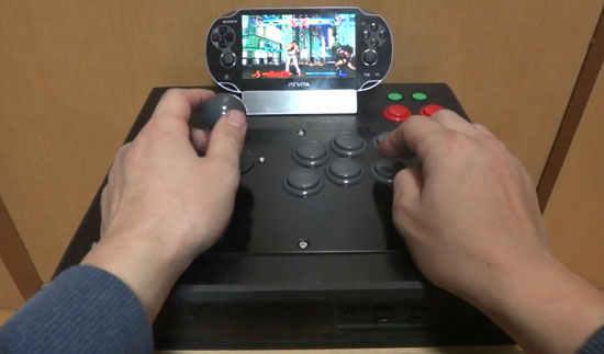 PS Vita gets an arcade fighting stick bolted to its behind
