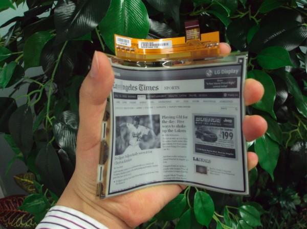 LG начинает производство гибких дисплеев