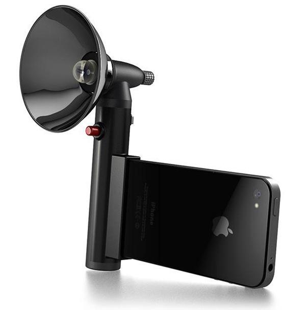 Внешняя фотовспышка для яблочного смартфона (3 фото + видео)