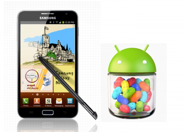 Samsung Galaxy Note обновляется до Jelly Bean