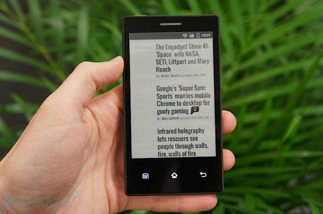 того, чтобы смартфон на электронных чернилах несколько минут получите