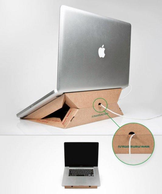Как сделать подставку для ноутбука