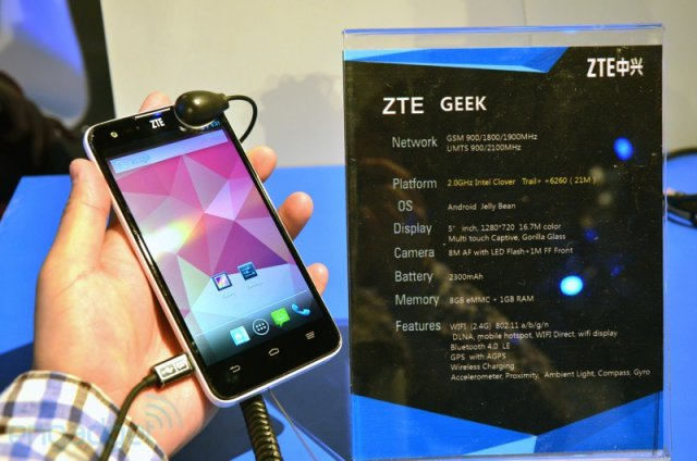 ZTE Geek - гуглофон на платформе Intel Clover Trail+ (11 фото)