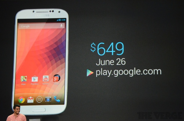 "Samsung Galaxy S4 с ""голым"" Android за $650"