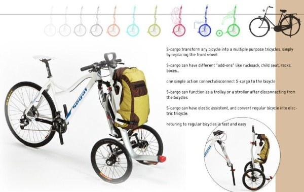 S-cargo - необычный городской велосипед (4 фото + видео)