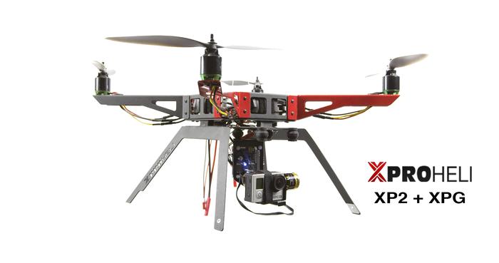Квадрокоптер go pro найти комплект винтов фантом