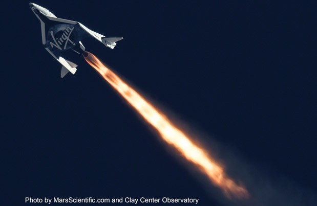SpaceShipTwo успешно завершил второй тестовый полёт (видео)