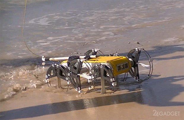 Робот RHex научился плавать (2 видео)
