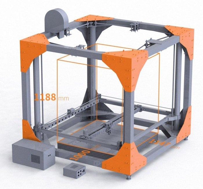 Самый большой 3D-принтер (видео)