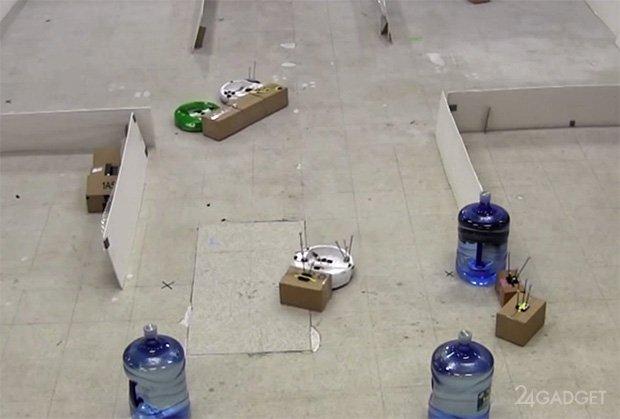 Групповой искусственный интеллект для роботов (видео)