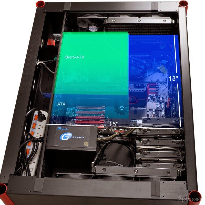 Компьютерный стол со встроенным системным блоком (14 фото).