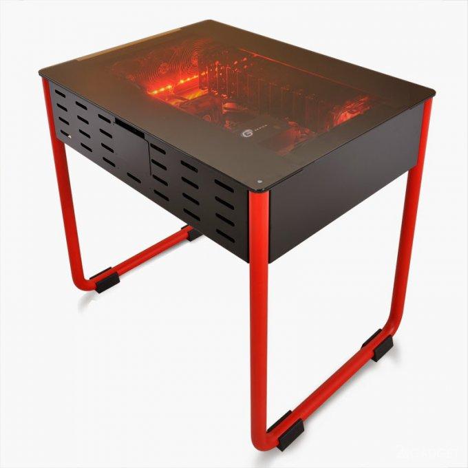 Компьютерный стол со встроенным системным блоком (14 фото)