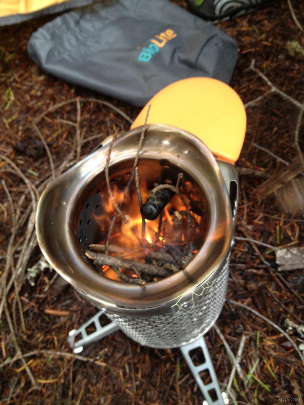Дровяная печь для похода