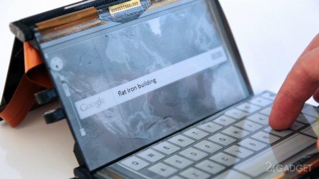 Портативный компьютер с тремя E-Ink дисплеями (видео)