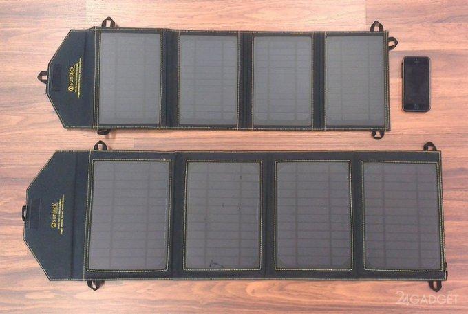 Складная солнечная панель от Sunjack (видео)