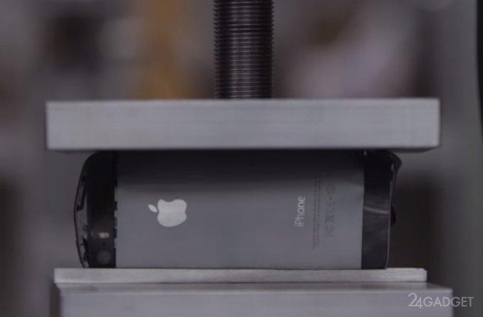 iPhone 5 под прессом (видео)