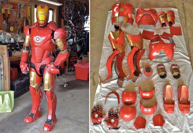 Самодельный костюм Железного человека (видео)