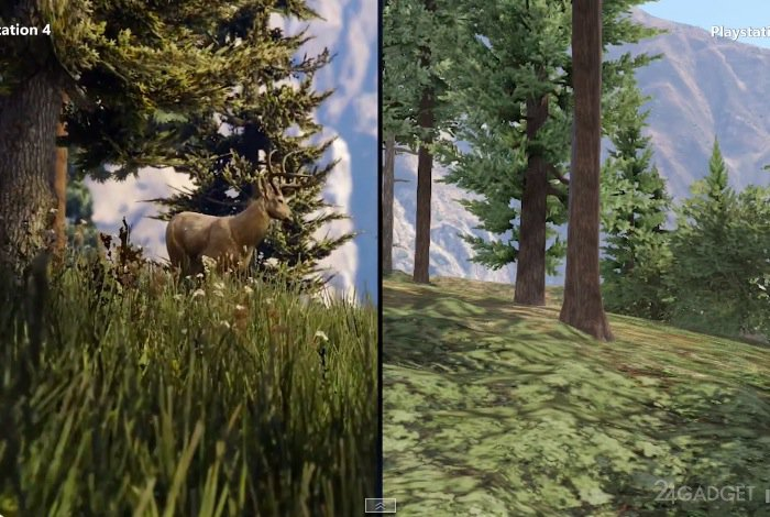 Сравнение графики GTA 5 на PS4 и PS3 (видео): 24gadget.ru/1161058381-sravnenie-grafiki-gta-5-na-ps4-i-ps3-video.html
