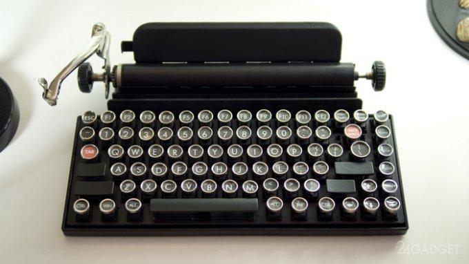 Механическая клавиатура в винтажном стиле (4 фото + видео)