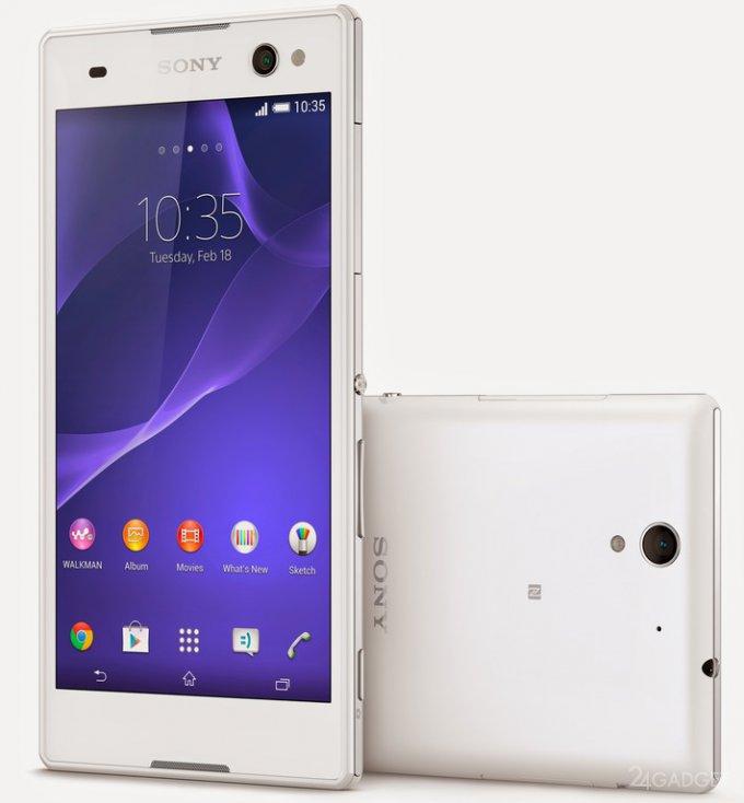 Sony Xperia C3 - смартфон, созданный для любителей селфи (6 фото + видео)