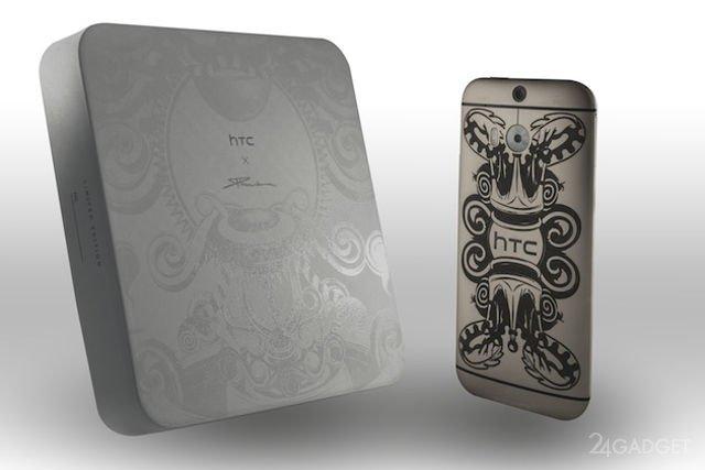 HTC One M8 Limited Edition: драгоценные металлы и татуировки