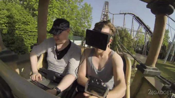 Американские горки с Oculus Rift (видео)
