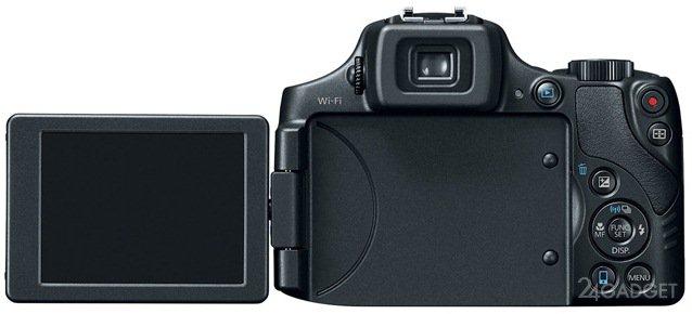 Canon PowerShot SX60 HS - мыльница с 65-кратным оптическим зумом (фото)