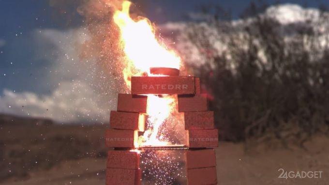 iPhone 6: обработка термитной смесью (видео)
