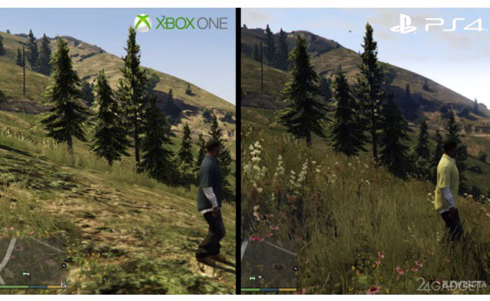Графика в GTA V: PlayStation 4 против Xbox One ...: 24gadget.ru/1161059910-grafika-v-gta-v-playstation-4-protiv-xbox...