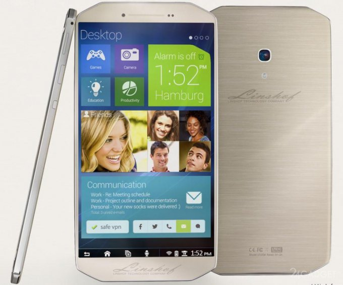 Linshof i8 - стильный смартфон из Германии