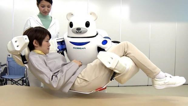 Робот-медведь ROBEAR поможет людям с ограниченными возможностями (4 фото + 1 видео)