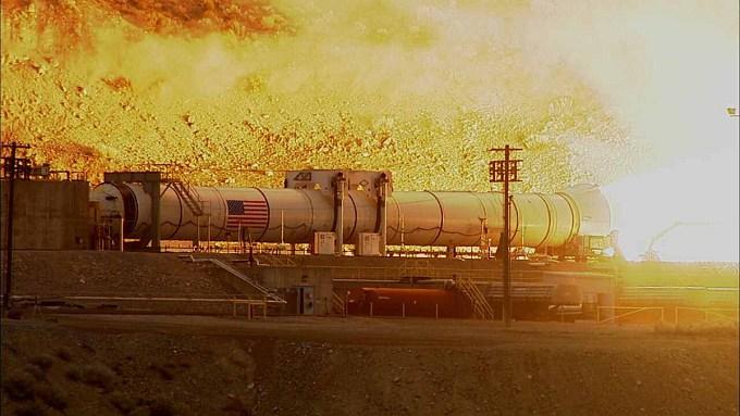 Испытания самого мощного в мире ракетного ускорителя (2 фото + видео)