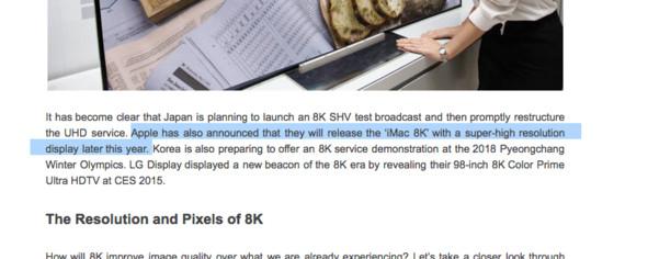 Apple iMac с разрешением экрана 8К может появится уже в этом году (4 фото)