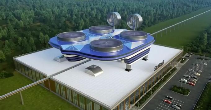 Квадрокоптер - общественный транспорт будущего (видео)