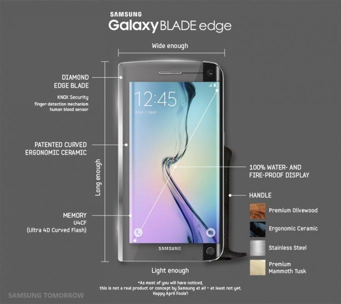 Samsung представила поварской смартфон-нож Galaxy BLADE Edge (3 фото)
