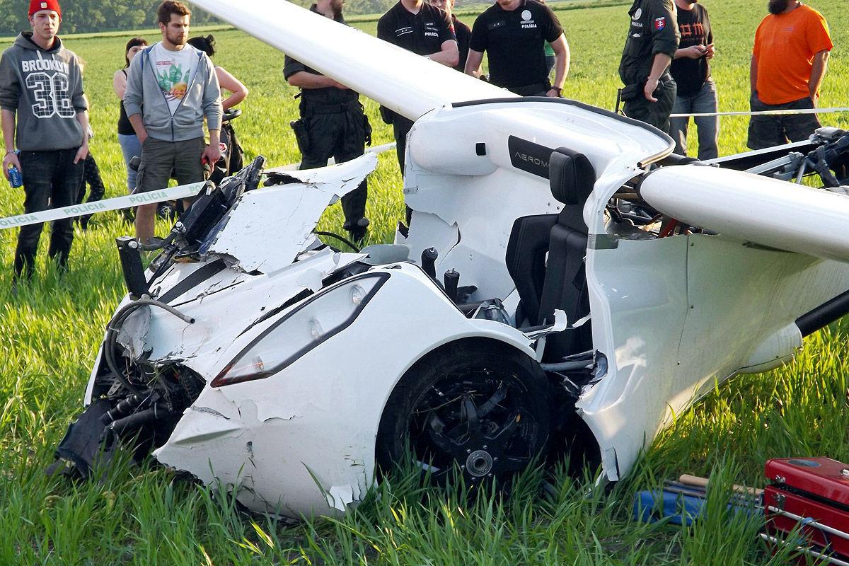 Крушение будущего «летающего автомобиля» показали на видео