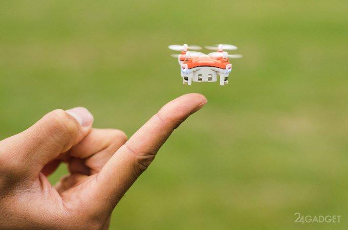 Самый миниатюрный квадрокоптер в мире (12 фото + 2 видео)