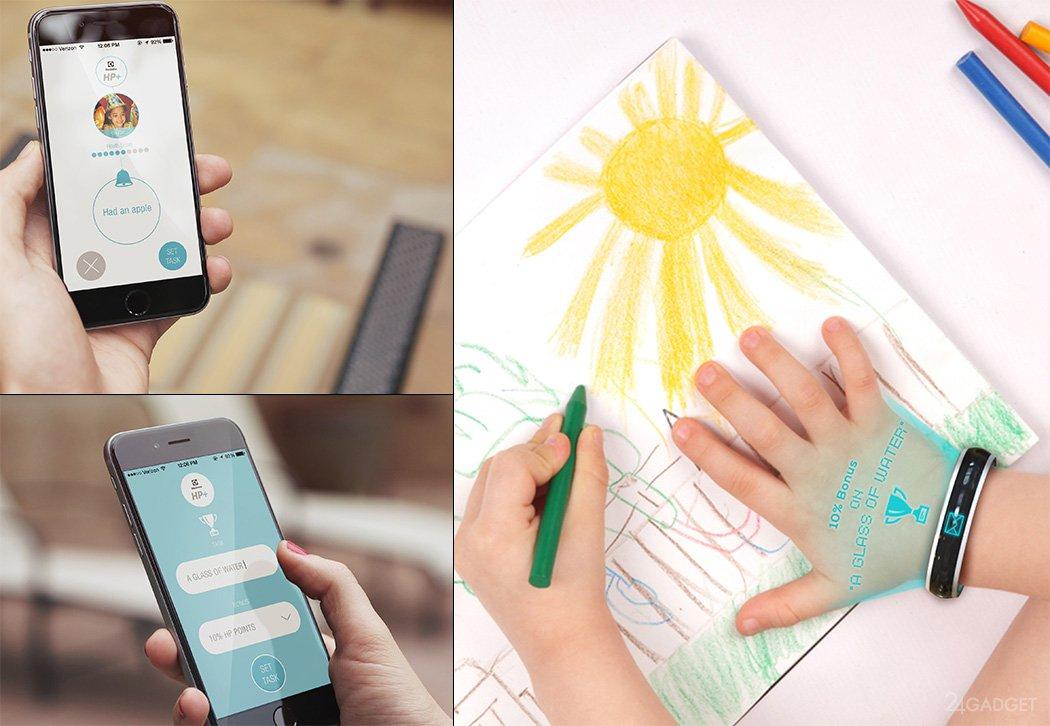 Браслет телефон на руке для детей
