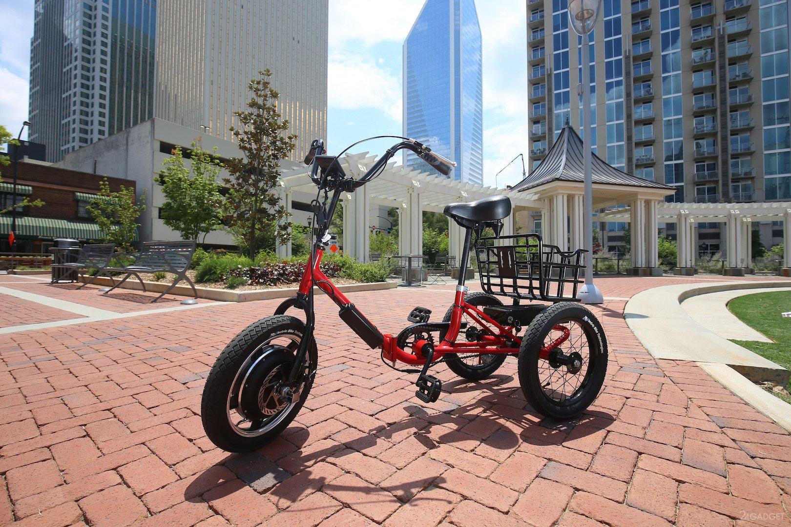 3 колёсный велосипед видео