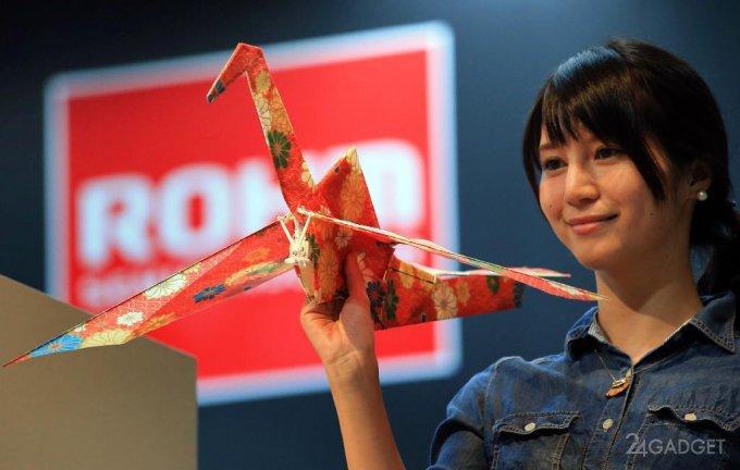 Управляемый бумажный дрон-оригами (2 видео)